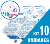 Imagem de KIT C/10 UNIDADES FRESUBIN ORIGINAL 1000ML + 10 EQUIPOS DUPLA VIA