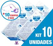 Imagem de KIT C/10 UNIDADES FRESUBIN 1.2 HP FIBRE 1000ML + 10 EQUIPOS DUPLA VIA