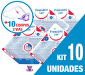 Imagem de KIT C/10 UNIDADES FRESUBIN LIPID 500ML + 10 EQUIPOS DUPLA VIA