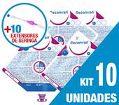Imagem de KIT C/10 UNIDADES RECONVAN 500ML + 10 EXTENSORES DE SERINGA