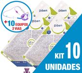 Imagem de KIT C/10 UNIDADES DIBEN 1000ML + 10 EQUIPOS DUPLA VIA